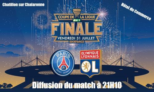 Coupe de la Ligue / Vendredi 31 juillet 2020 diffusion de la finale à 21H10 PSG / OL